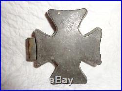 Unique Vintage Hinged Masonic Cross Pewter Ice Cream Mold, Chocolate (j)