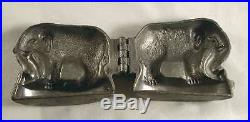 Unusual Vintage Pewter Ice Cream or Chocolate Mold Elephant Standing Marked 169