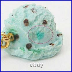 Used Cue Pot Baby Q-Pot Mint Chocolate Ice Cream Necklace Pendant Light Green