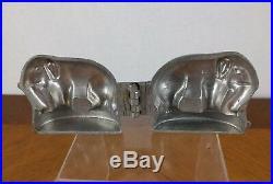 VTG Elephant Mold Heavy E & CO NY USA 656 Pewter Bake Chocolate Ice Cream Decor