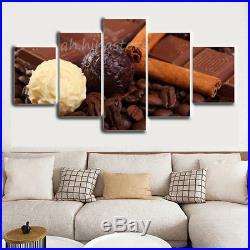 Vanilla and Chocolate Ice Cream 5 Pieces Canvas Art HD Print Picture Home Decor