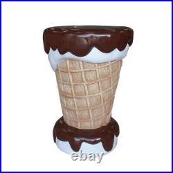 Vanilla and Chocolate Ice Cream Table