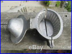 Vintage Antique Pewter Ice Cream Or Chocolate Fluted Basket Mold #305 Look