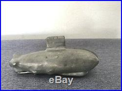 Vintage Antique S&co Schall Ice Cream Chocolate Pewter Mold Submarine Zeppelin