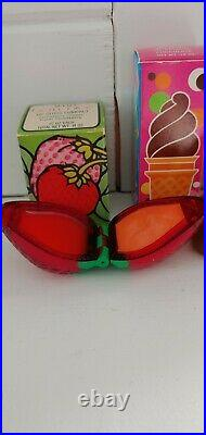 Vintage Avon Strawberry Lip Gloss & Chocolate Ice Cream Pomade Nos Lot