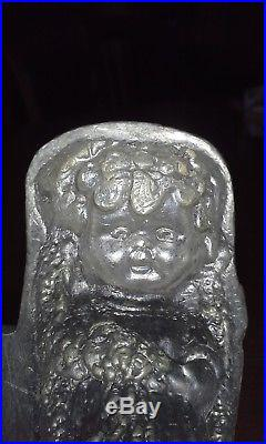 Vintage BRIDE and GROOM WEDDING pewter ice cream/butter/chocolate molds