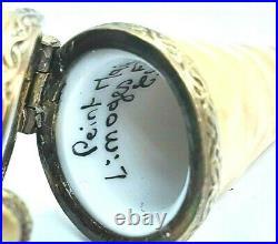 Vintage Chocolate Ice Cream Cone Limoges box