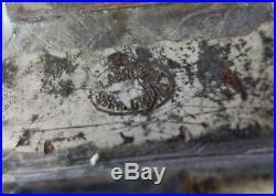 Vintage Chocolate Mold Santa Antique Tin Metal Candy Rare Old German Ice Cream