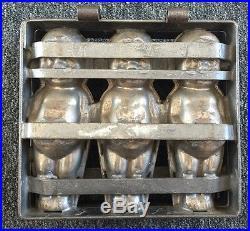 Vintage Cookie Chocolate Ice Cream Baby Cupid Cast Metal Mold Form Press