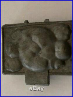 Vintage E & Co Eppelsheimer Hinged Pewter Jack of Clubs Ice Cream Chocolate Mold