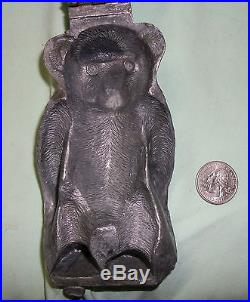 Vintage E & Co. Pewter #3011 Detailed STANDING BEAR Ice Cream Mold Chocolate