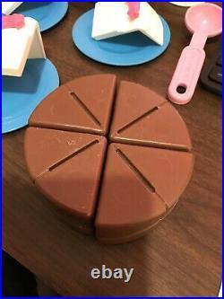 Vintage Fisher Price Fun with Food Chocolate Cake, Ice Cream & Cupcakes RARE