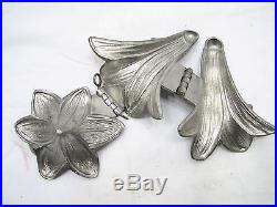 Vintage Flower Ice Cream Chocolate Candy Mold Floral S & Co Easter Lily