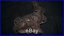 Vintage Griswold Mfg Cast Iron Rabbit Cake Chocolate Ice Cream Mold 10 Bunny
