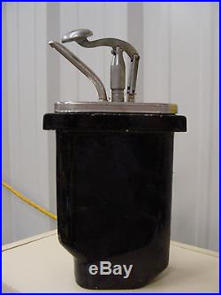 Vintage Hall porcelain ice cream soda fountain pump chocolate syrup dispenser