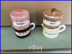 Vintage Holt Howard Ice Cream Sundae Set Berries-Nuts-Chocolate-Butterscotch