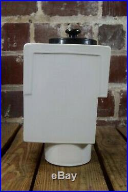 Vintage Ice Cream Shop Soda Fountain Ceramic Chocolate Dispenser with Ladle