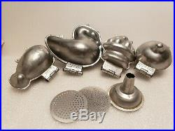 Vintage Lot Wilton Hinged Metal Molds Butter Chocolates Ice Cream