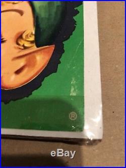 Vintage NOS Nabisco Advertising Litho Blonde Elf & Chocolate Ice Cream Cone