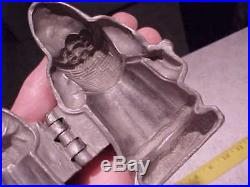 Vintage Old Christmas Metal Santa Belsnickle Mold Ice Cream or Chocolate