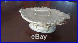 Vintage Pewter Banquet Sized Ice Cream/chocolate Mold Mother's Day Basket