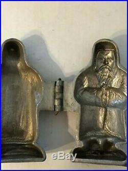 Vintage Pewter E&Co #166 Santa FatherTime St. Nicholas IceCream Chocolate Mold