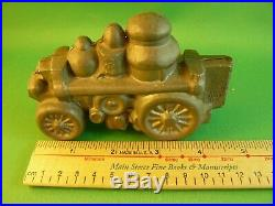 Vintage Pewter Hinged Butter Ice Cream Chocolate Mold 4.5 Fire Engine
