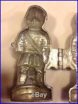 Vintage Pewter S&C Co. #320 Knight Templar Shaped Ice Cream/Chocolate Mold