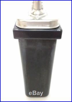 Vintage Porcelain Ice Cream Parlor Soda Fountain CHOCOLATE Syrup Dispenser Black