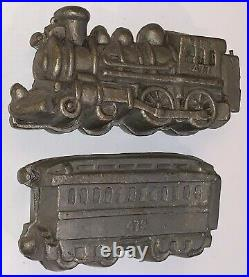 Vintage TRAIN CHOCOLATE ICE CREAM MOLD Engine 477 Caboose 479 Eppelsheimer & Co