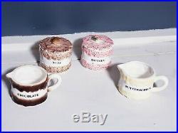 Vtg Holt Howard Ice Cream Sundae Set 1959 Berries-Nuts-Chocolate-Butterscotch