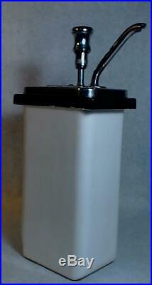 Vtg Porcelain Fountain Syrup Chocolate Pump Dispenser Soda Ice Cream Drug Store