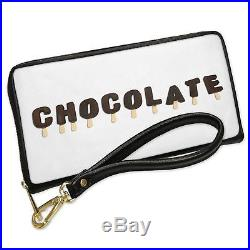 Wallet Clutch Chocolate Ice Cream Popsicle with Removable Wristlet Strap Neonblo