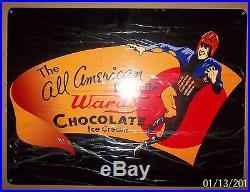 Ward's Chocolate Ice Cream Sign, Heavy Steel, Great Graphics & Shine, 18 x 24