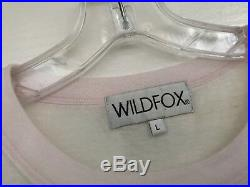 Wildfox Chocolate Strawberry Vanilla Ice Cream Tee Shirt LARGE