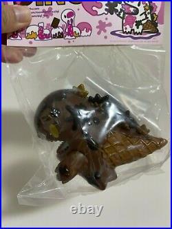 Ziqi Dino Sofubi Vinyl Figures Dark Chocolate Ice Cream or Beer